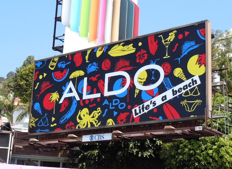 ALDO life's a beach billboard