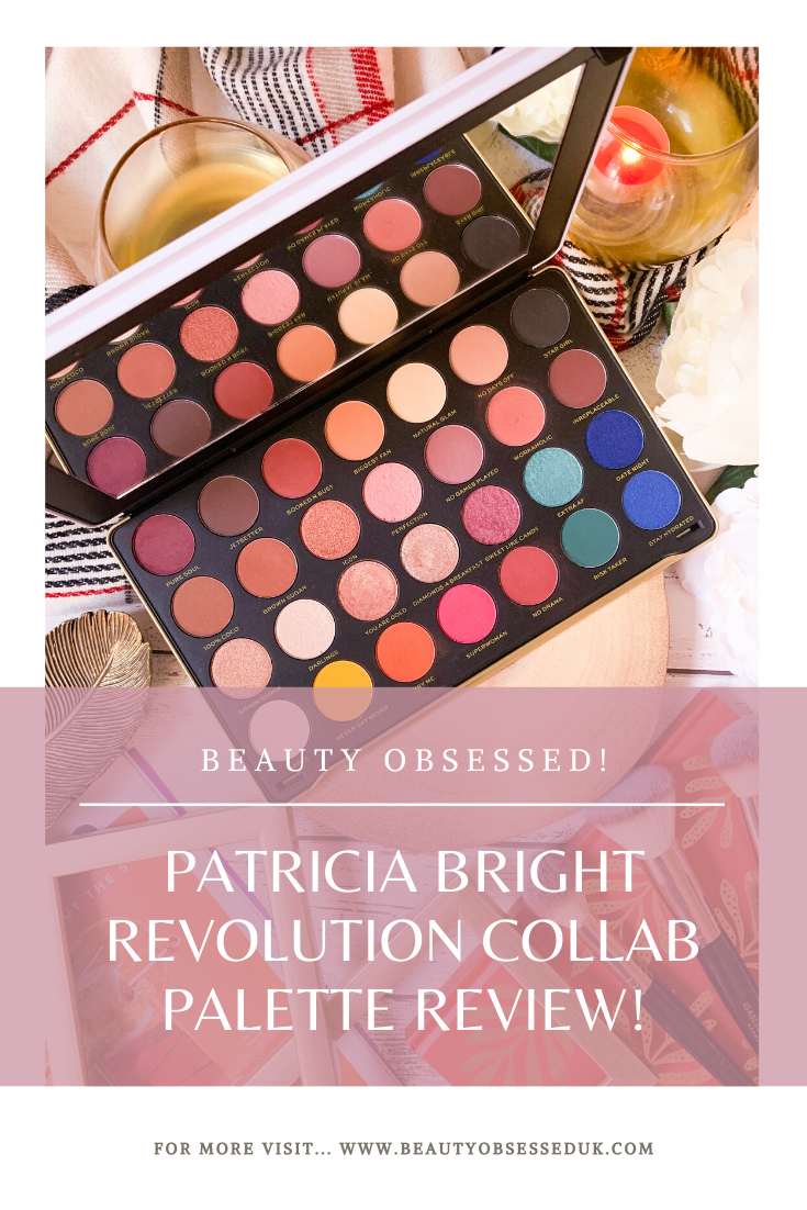 Patricia Bright Palette Review Pinterest Graphic