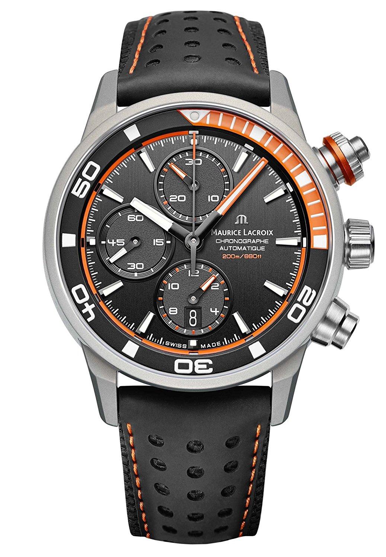 Maurice Lacroix orologio da uomo vitello nero automatico pt6028-alb31