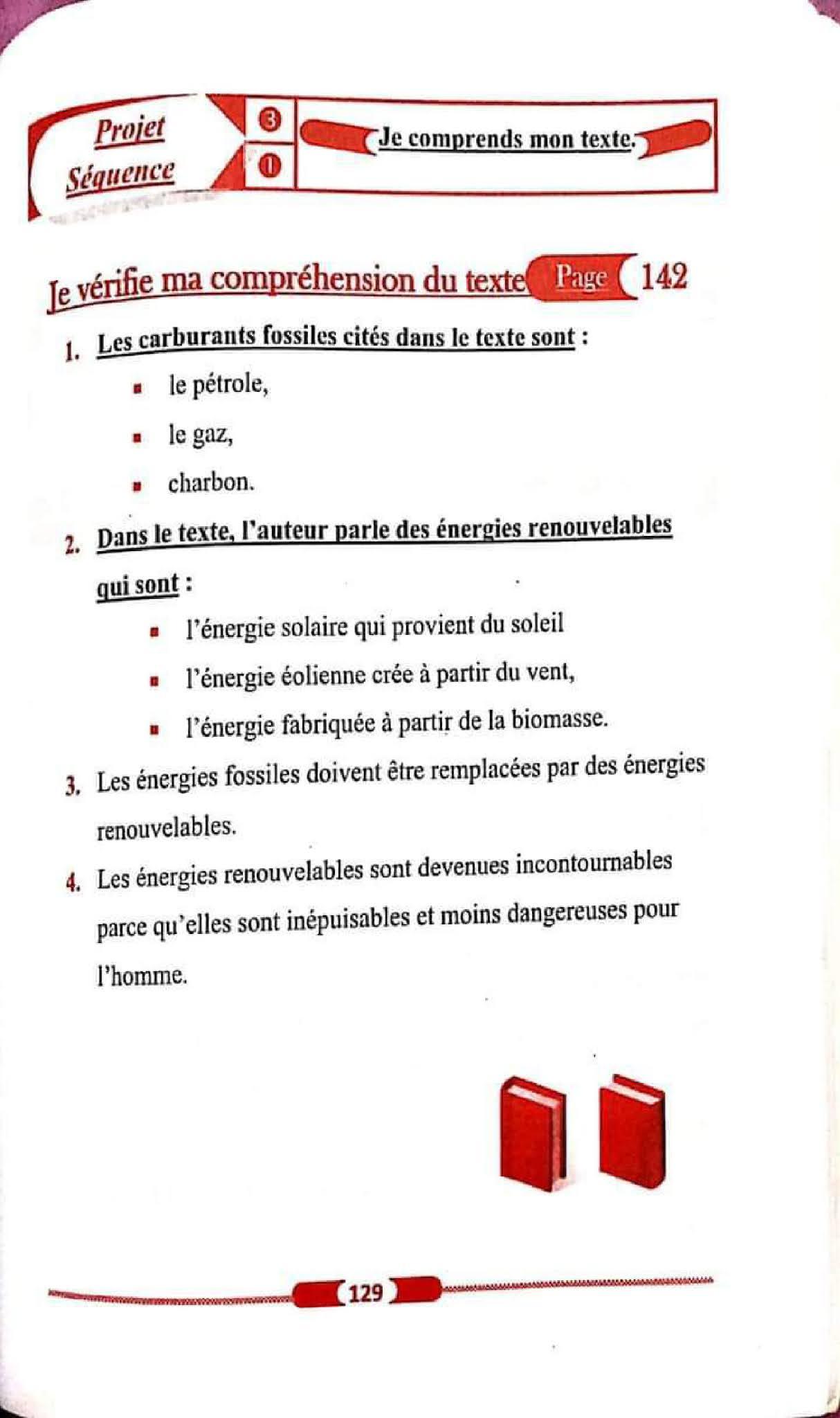 حل تمارين صفحة 142 الفرنسية للسنة الأولى متوسط الجيل الثاني