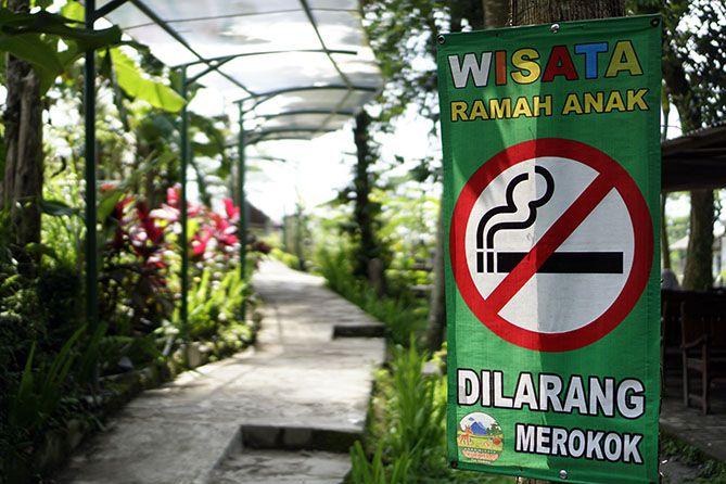 Kawasan Agrowisata Bhumi Merapi dilarang merokok