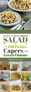Tuna and Macaroni Salad with Dill Pickles, Capers, and Green Onions [from KalynsKitchen.com]