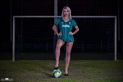 Milena Freitas Musa do Palmeiras é de Eldorado-SP no Vale do Ribeira