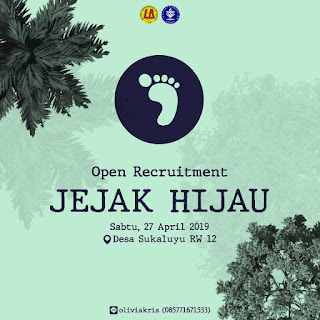 [OPEN RECRUITMENT JEJAK HIJAU]
