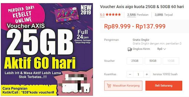 Paket Murah Axis AIGO 25GB dan 50GB
