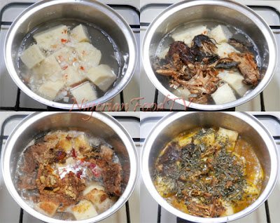 Yam and Dried Fish Pepper Soup Porridge, Ji Mmiri oku