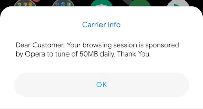 HOW TO BYPASS OPERA MINI 50MB DAILY DATA