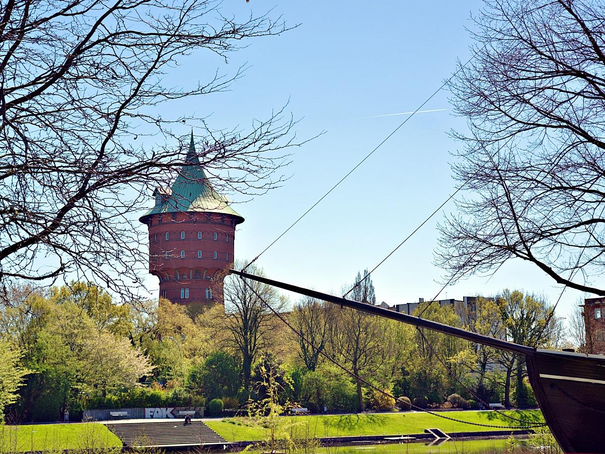 Wassertrum zu Cuxhaven - Quer und hoch