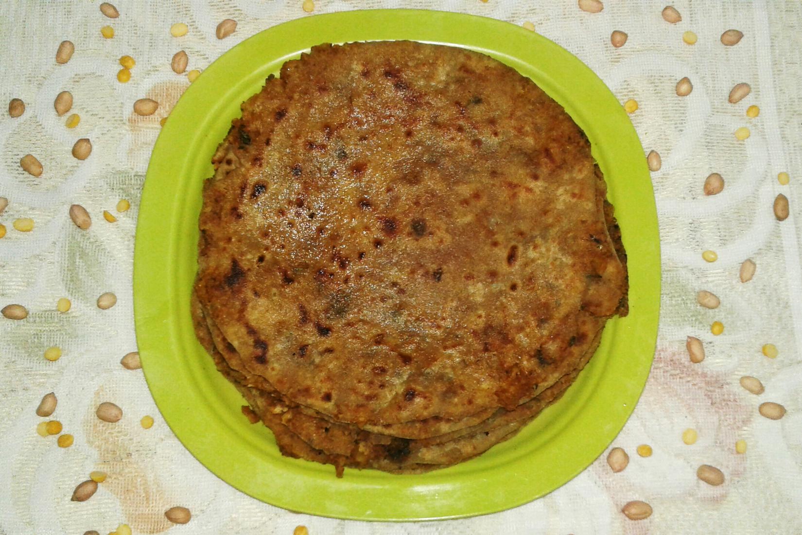 peanut paratha