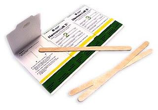 fecal occult blood test card
