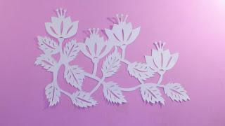 kirigami flowers step by step cành hoa