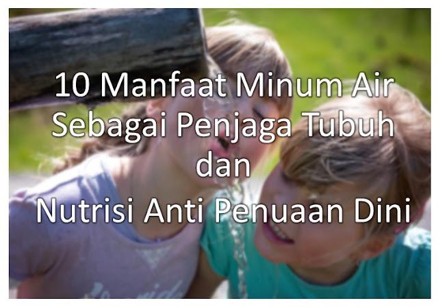 10 Manfaat Minum Air Sebagai Penjaga Tubuh dan Nutrisi Anti Penuaan Dini