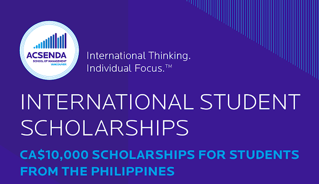 Acsenda Scholarships for Filipino Students in 2020! CAD 10,000 Grants!