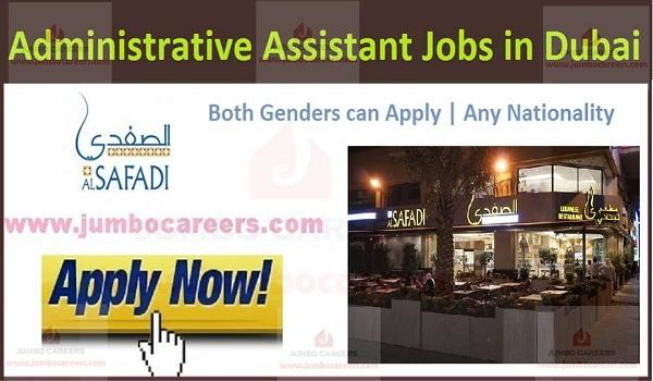 Recent Dubai job vacancies,
