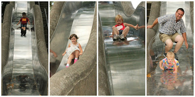 Omaha Weekend Family Guide - Gene Leahy Mall, Giant Slides