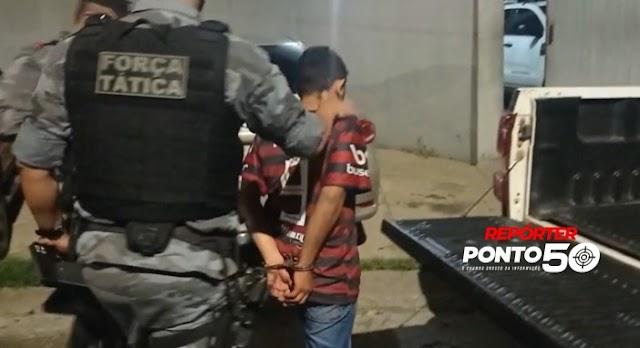 Homem é preso com arma e drogas na mesma região onde bandidos gravaram vídeos armados em Teresina