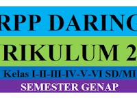 RPP Daring Kelas 1,2,3,4,5,6 Semester 2 Revisi 2021