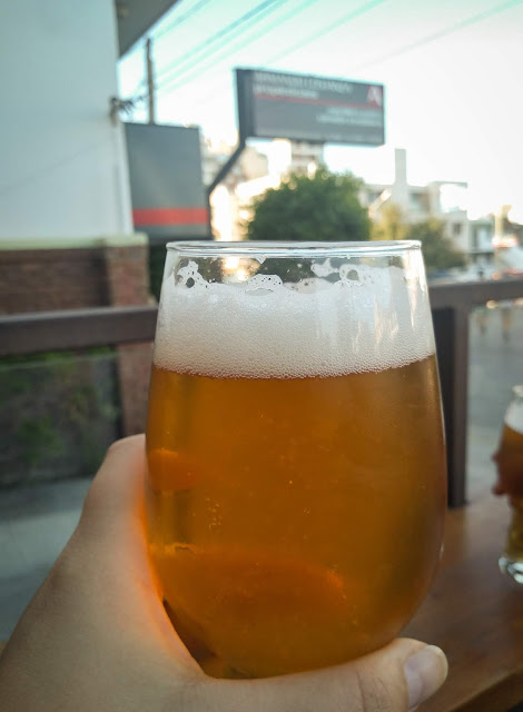 Passion fruit craft beer in Puerto Madryn, Argentina