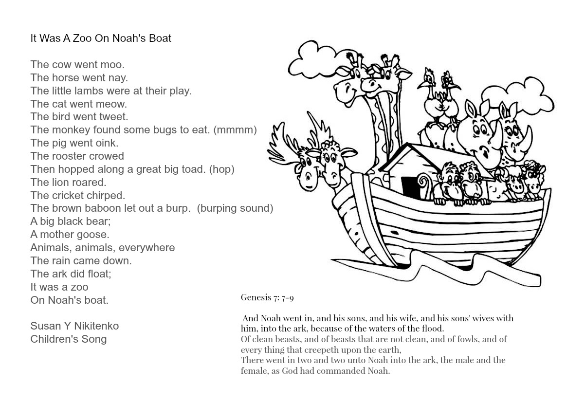 Children S Gems In My Treasure Box It Was A Zoo On Noah S