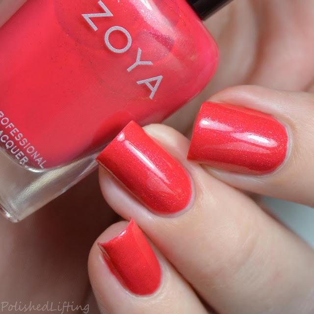 persimmons shimmer nail polish