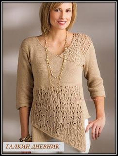 jenskii-pulover-spicami | strécken | pleteњe | neheh