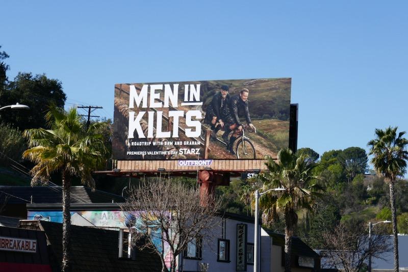 Men in Kilts Starz series billboard
