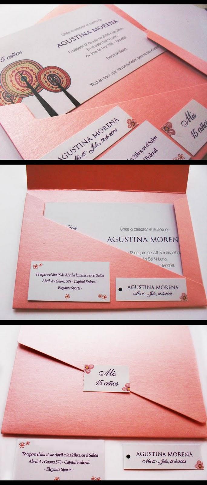 Puntosur Gráfica Para Eventos Tarjeta Invitación 15 Años