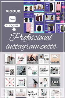 Attractive professional schedule instagram posts and stories - creative designs of posts and stories