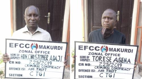 EFCC Arraigns Benue Deputy Speaker And Clerk For Alleged N5m Fraud #Arewapublisize
