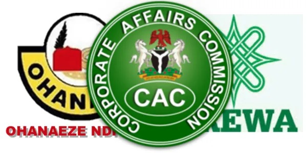 BREAKING: Corporate Affairs Commission (CAC) Withdraws Registration Certificate Of Ohaneze, Arewa, Other Groups