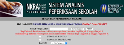 SAPS Guru Ibu Bapa Sistem Analisis Peperiksaan Sekolah