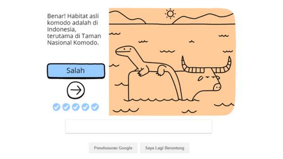 Google Menghadirkan Gambar Komodo di Penelusurnya