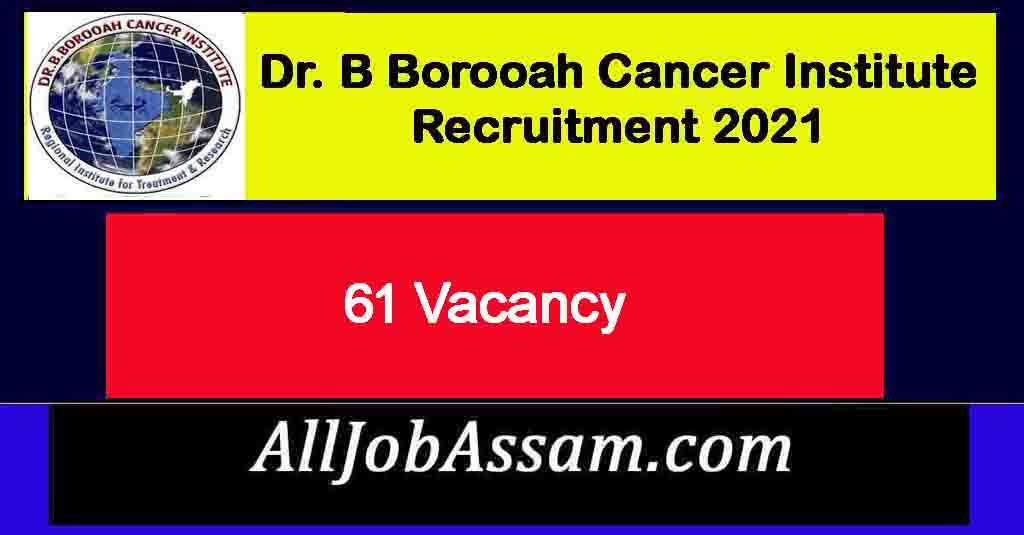 Dr. B Borooah Cancer Institute Recruitment 2021