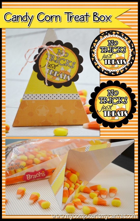 NEW} CANDY CORN TREAT BOX  TAGS - My Computer is My Canvas