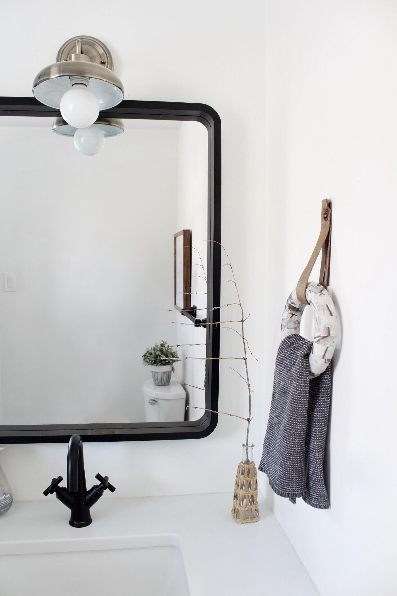 Bathroom Renovation with a DIY Towel Ring