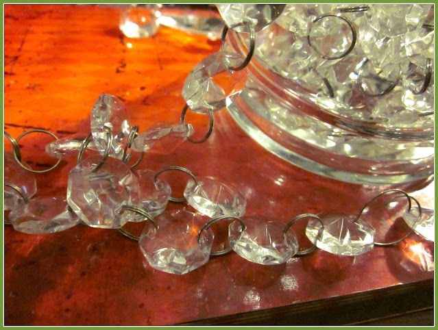 chandelier gems attached to jello mold