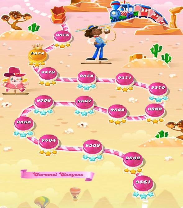 Candy Crush Saga level 9561-9575