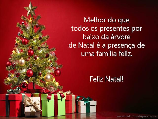 Tarjetas de Navidad en portugues