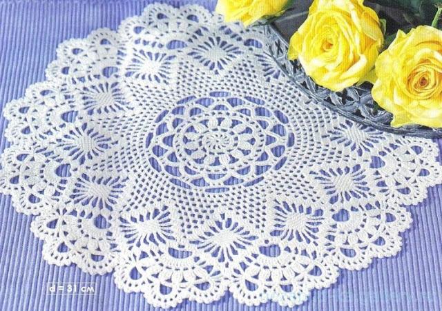 Centro de mesa a crochet con moldes