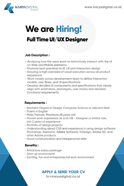 Lowongan Kerja UI/UX Designer