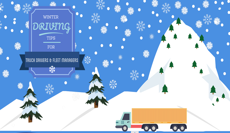 Tips For Driving a Truck In Winter Conditions #infographic