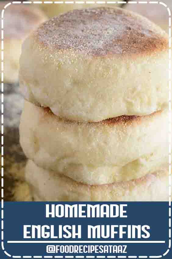 4.8 ★★★★★ | Homemade English muffins are so much easier than you think! This recipe is simple and will give you soft, chewy muffins in no time. Enjoy them with butter or your favorite jam! #homemade #recipes #meals