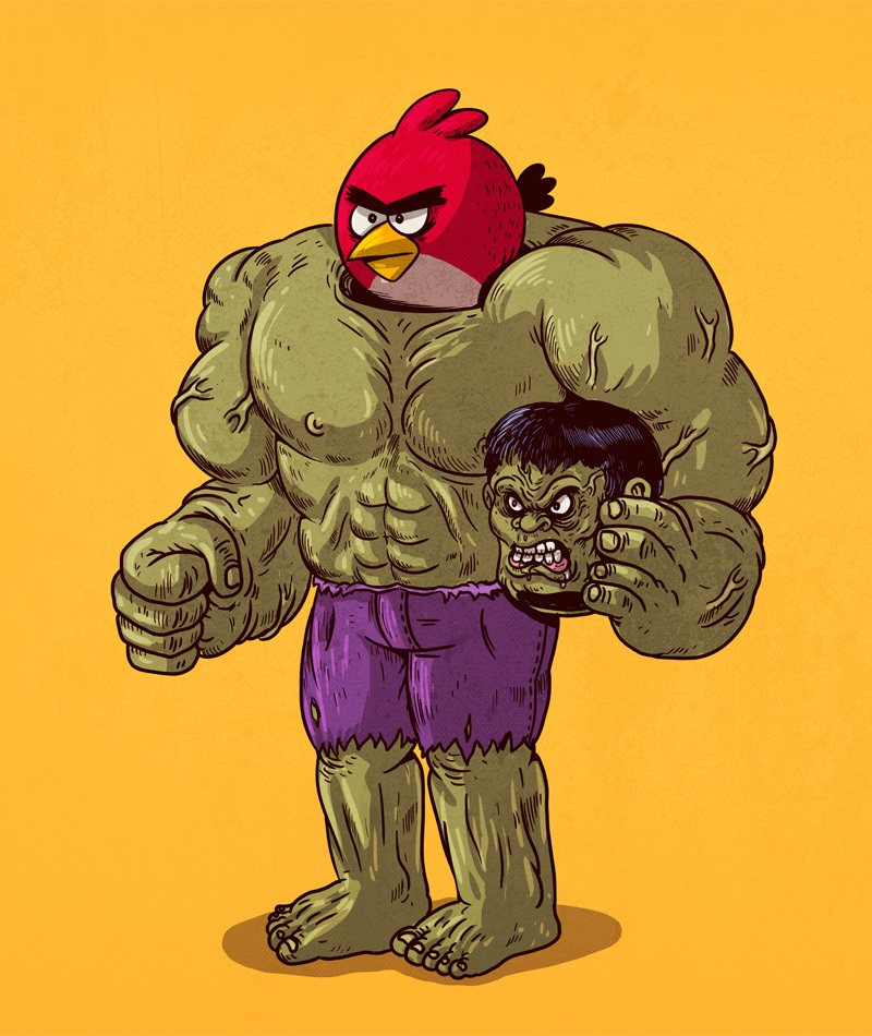 03-Hulk-and-Angry-Birds-Alex-Solis-Illustrations-of-Icons-Unmasked-www-designstack-co