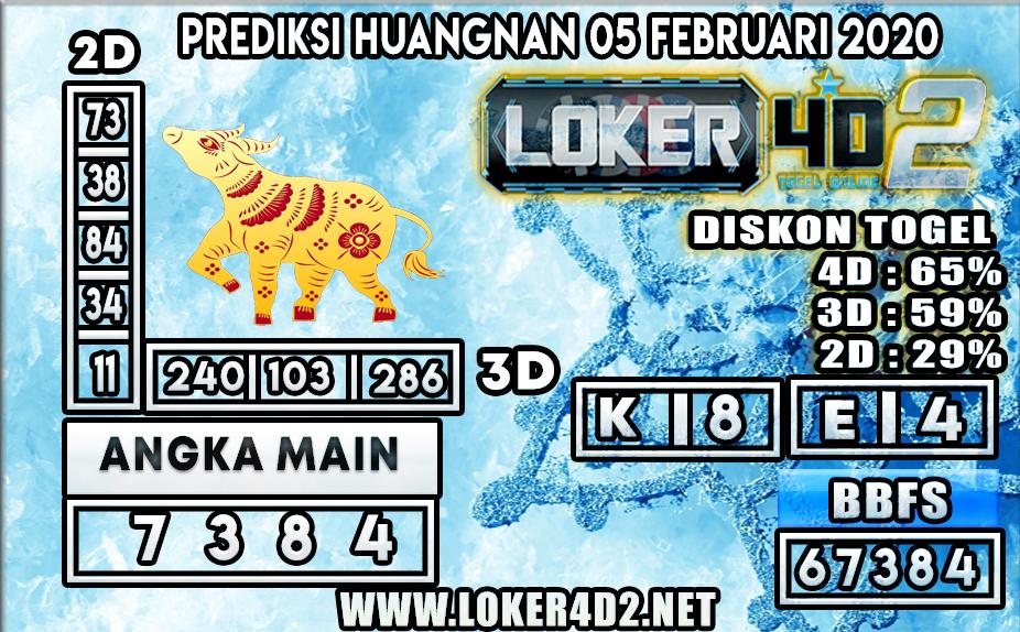 PREDIKSI TOGEL HUANGNAN LOKER4D2 05 FEBRUARI 2020