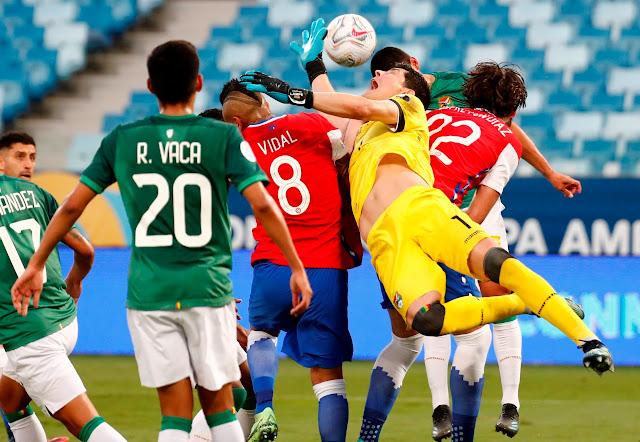 El partido de Bolivia vs Chile
