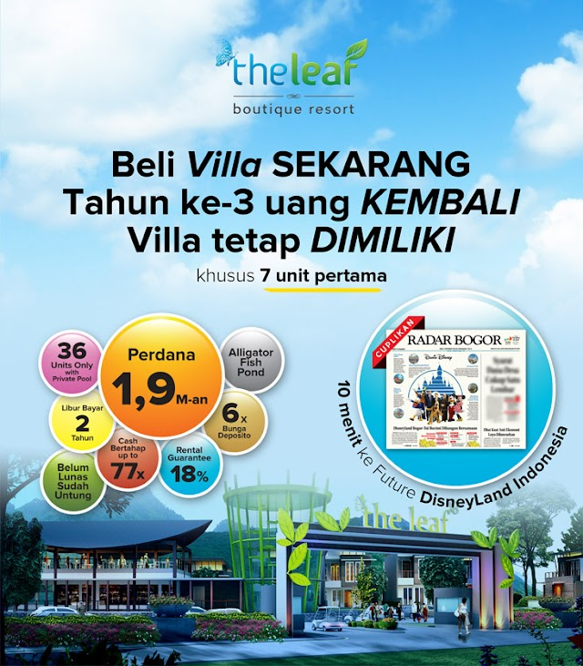 The Leaf Boutique Resort - Villa Mewah di Ciawi, Bogor
