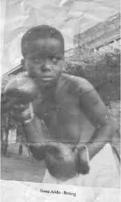 Nana Addo Boxing in Childhood Photo