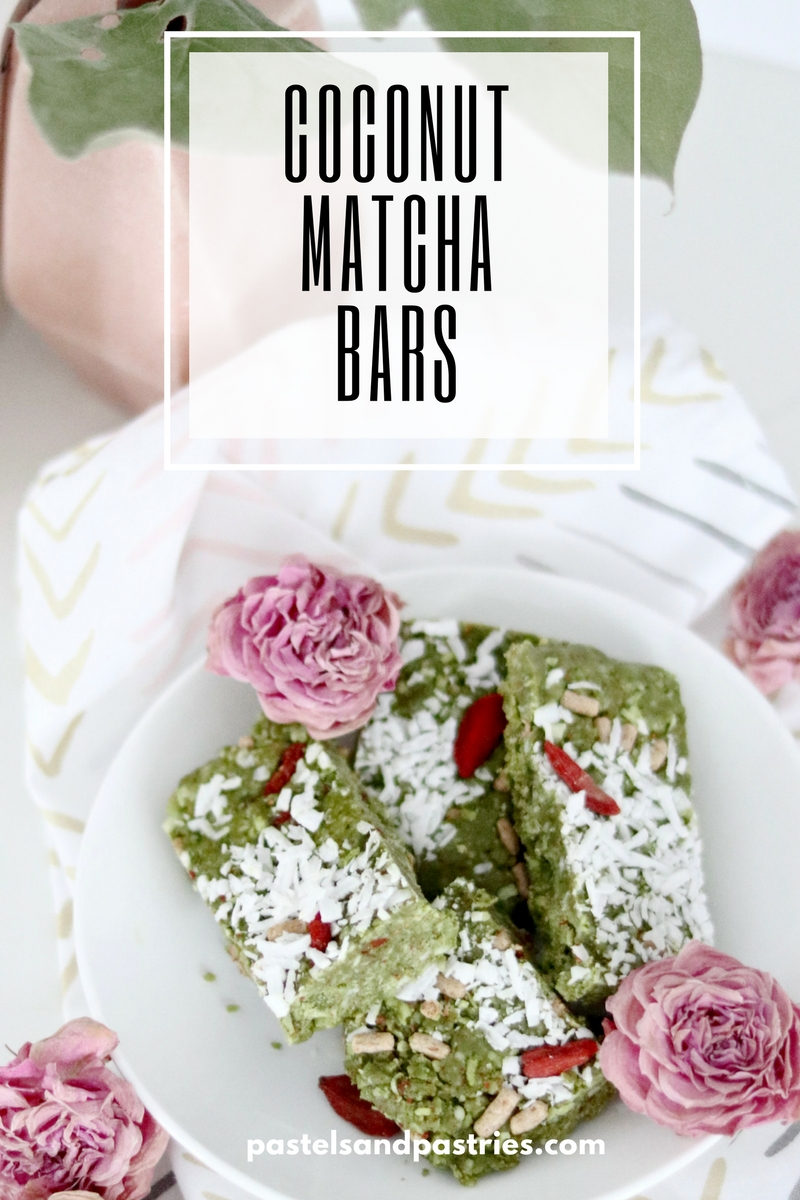 Coconut Matcha Bliss Bar with collagen