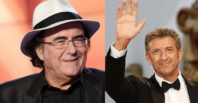 Two Italians among the many who vote in Albania: Albano Carrisi and Ezio Greggo