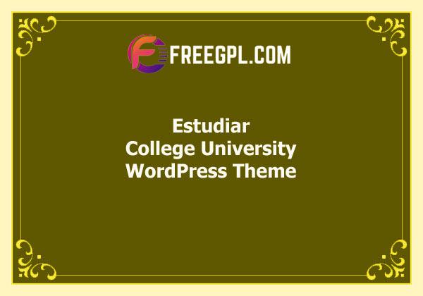 Estudiar – College University WordPress Theme Free Download